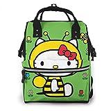 Hello Kitty Bee Bolsa de pañales para mamá, multifunción, gran capacidad, mochila de viaje