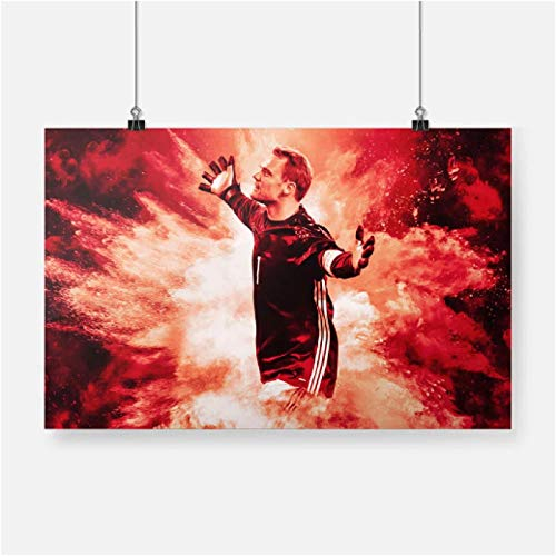 FGVB Carteles de Portero de fútbol Manuel Neuer Impresiones artísticas de Pared Sala de Estar decoración del Dormitorio del hogar Cuadro de Pintura 60 × 90 cm sin Marco