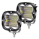 YnGia Luces de trabajo LED 54W Focos antiniebla LED para motocicleta 12V 24V, 2PCS Barra de luz adicional de conducción impermeable para camión todoterreno Barco 4X4 ATV