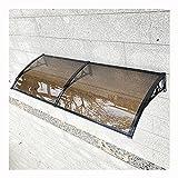 LIQICAI Intemperie Puerta Ventana Toldo Dosel, Aleación Aluminio Soporte Tablero Resistencia Silencio Pabellón, Terraza balcón Aire Acondicionado Refugio (Color : Brown, Size : 60X160CM)