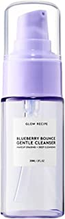 Glow Recipe Blueberry Bounce Gentle Cleanser Mini Travel Size 1 Ounce Facial Makeup Eraser