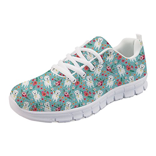 Coloranimal - Zapatos de senderismo con estampado de flores para mujer