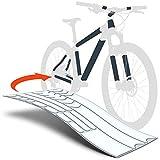 Luxshield Fahrrad Lackschutzfolie für Mountainbike, BMX, Rennrad, Trekkingrad etc. - 21-teiliges Rahmen-Set gegen Steinschlag - Transparent glänzend & selbstklebend