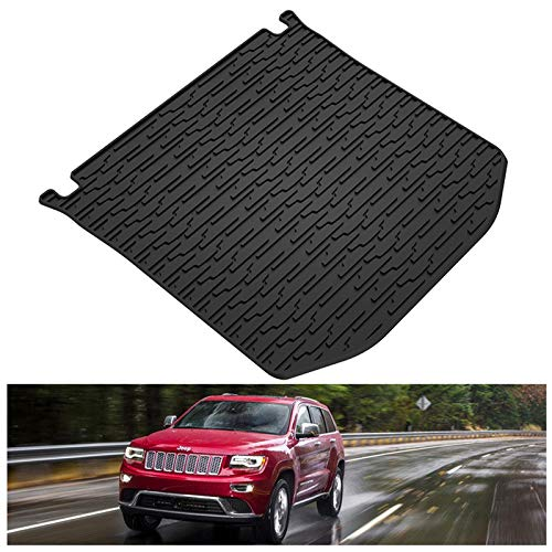 KIWI MASTER Rear Cargo Mat Liner Compatible for 2011 - 2021 Jeep Grand Cherokee All Weather Protection Floor Slush Trunk Mats,1 Pcs,Black