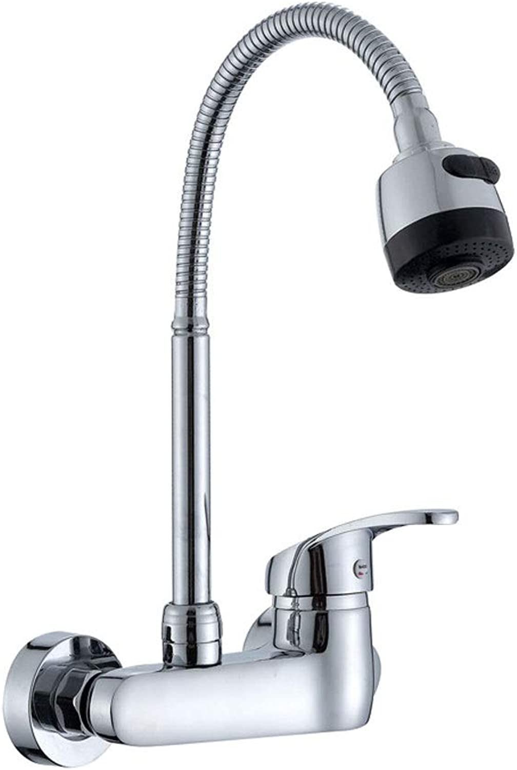 WOOMD WOOMD Single Handle Single Sole Tap Home Modern 360 Degree Swivel Single Lever Brushed Nickel Kitchen Sink Tap, Hot&Cold Water Mixer Kitchen Taps( Stove, Sink, Tableware and Other Kitchen Equipm