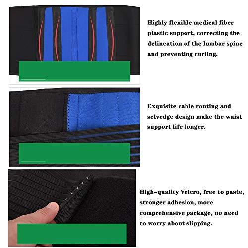 LSRRYD Adjustable Neoprene Double Pull Back Support Belt Posture Corset Lumbar Support Belt For Men Women For Back Pain (Size : 3XL)