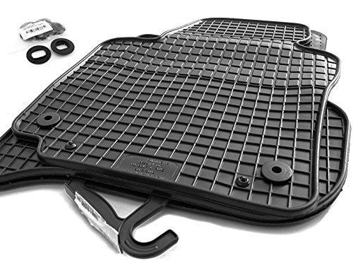 Gummimatten passend für Golf 5 6 Jetta Scirocco Automatten Gummi Fußmatten Passform 4-teilig schwarz inkl. Befestigung