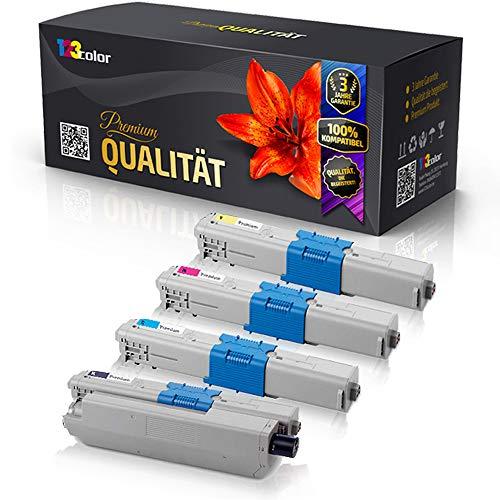 4x Kompatible Tonerkartuschen für OKI MC332 DN MC340 Series MC342 DN MC342 DNW 44973536 44973535 44973534 44973533 Schwarz Blau Rot Gelb - Office Line Serie