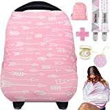 Dodo Babies Nursing Cover for Breastfeeding  Car seat Cover Nursing Scarf Breastfeeding Ups  Ultra-Soft and Breathable  Multipurpose Design  Includes Pacifier Clips, Case, Storage Bag