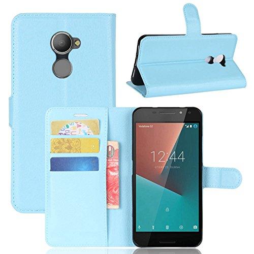 Tasche für Vodafone Smart N8 Hülle , Ycloud PU Kunstleder Ledertasche Flip Cover Wallet Case Handyhülle mit Stand Function Credit Card Slots Bookstyle Purse Design blau