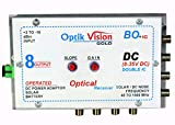 Optik vision gold Optical Receiver , DC Node 8 Output {8 to 35 Volt} Reverse DC OPERRATES ON REVERSE 8-35 V DC OPERATES ON 12V ADAPTER & ALSO THRU POWER OVER CABLE {poc} *8 HIGH GAIN OUTPUT ( 105 dBm ) OPTICAL WAVE LENGTH : 1200-1600 nm BANDWIDTH : 4...