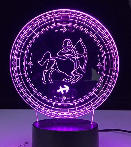 Zwölf Constellation Lamp Schlafzimmer 3D Nachtlicht für Mädchen Wohnheim Dekor Licht Led USB Powered 3D Nachtlicht vorhanden