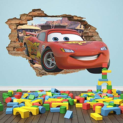 QAW Pegatinas de pared'Car toyman 3d etiqueta de la pared Lightning McQueen etiqueta de la pared, resorte del radiador'