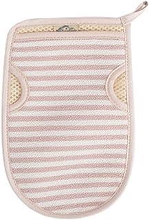 Lovely Stripe Scrubber Bath Mitt Glove for Shower Spa Body Back Exfoliating Mud Dead Skin Remover, Pink