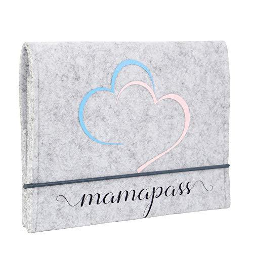 Bonita funda de fieltro para el carné de embarazo alemana, hecha a mano en Alemania, funda para el carné de maternidad, incluye compartimentos Mamapass