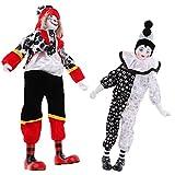 B Blesiya 2 Piezas Payaso Disfraz de Porcelana muñeca niños Juguetes Regalos Halloween Navidad decoración