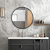 ANDY STAR Round Bathroom Mirror, 20 Inch Small Round Wall Mirror for Bathroom, Stainless Steel Metal Frame Wall Mounted Round Mirror for Bathroom, Entryway, Living Room, Bedroom