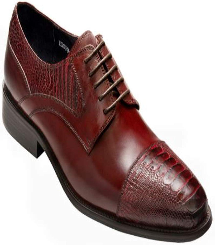 David X Men's Brune Genuine Ostrich Calf Leather Oxford Dress shoes