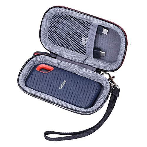 XANAD Hart Eva Reise Tragen Tasche für SanDisk Extreme Portable SSD Externe Festplatte 250 GB 500 GB 1 TB 2 TB - Schutz Hülle