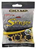 LONGRIDGE Stinger Slim Lok 18 Pezzi, Tacchetti da Golf Unisex-Adult, Black/Yellow, One Siz...