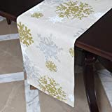 VGIA 72 inch Christmas Table Runner Rectangle Snow Pattern Table Runner Christmas Decoration