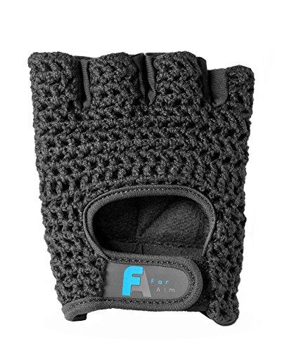 FarAim Premium Fitnesshandschuhe –Hochwertige Trainingshandschuhe aus Atmungsaktivem Material – Zum Praktischen Einsatz für Bodybuilding, Krafttraining, Hantelheben und im Fitnesscenter (XS)