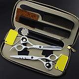 El corte profesional de Calidad de afeitar de acero inoxidable corte de pelo tijeras de estratificación del peluquero tijera Edge Hair Styling O Recorte de corte japonesa Toothcut 5,5 pulgadas 2020070