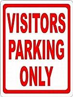 訪問者駐車場のみティンサイン壁鉄の絵レトロなプラークヴィンテージ金属板装飾ポスターおかしいポスター吊り工芸品バーガレージカフェホーム