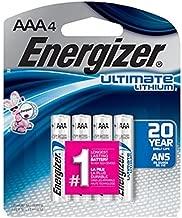 Energizer Ultimate Lithium Battery 4 Pack Model L92SBP-4