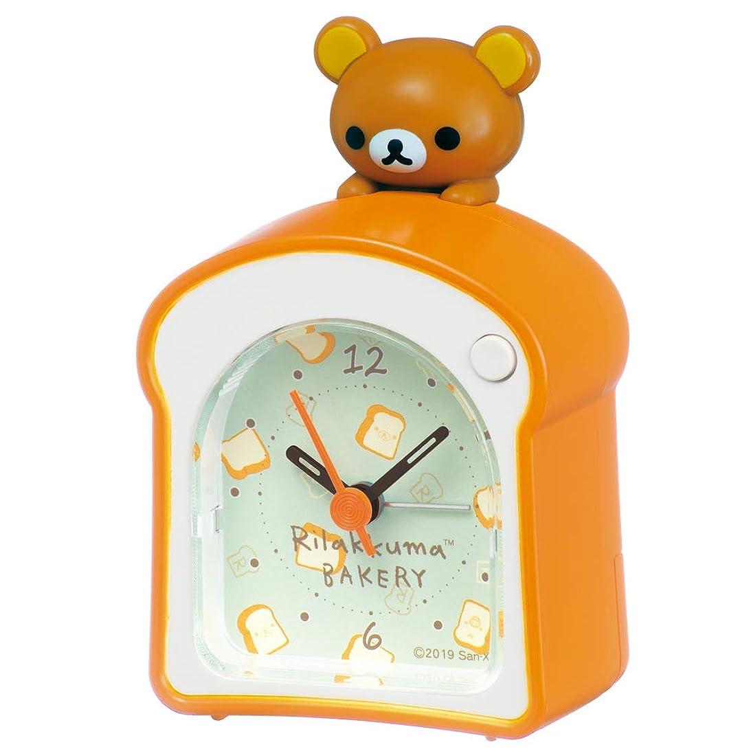 セクタにもかかわらず無視するセイコークロック 置き時計 本体サイズ: 9.6×6.4×5.0cm リラックマ 目覚まし時計 アナログ CQ159A