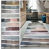 Muchas Alfombra Cocina, Alfombra Vinilo Grande, Alfombras de Vinilo Modernas, Antimanchas Lavable para alfombras de Entrada a pasillos - Blanco 70x420cm