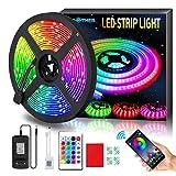 AMBOTHER LED Streifen 5m RGB LED Strip 150 LEDs 5050SMD...