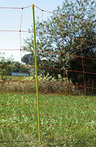 VOSS.farming Schafzaun 90cm Classic 50m | Schafnetz Ziegenzaun Elektronetz | 14 Pfähle 2 Spitzen | Orange - 2