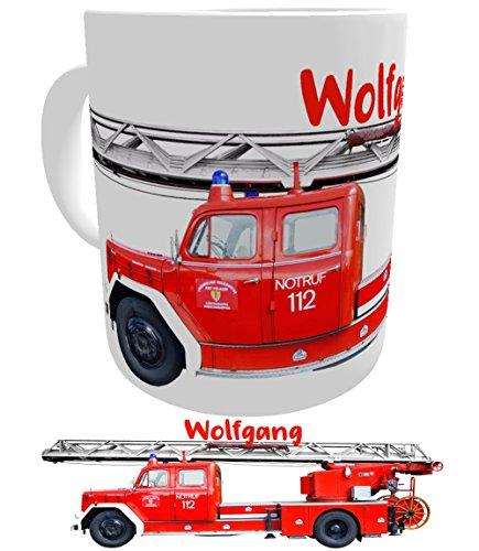 Kilala Kaffee-Tasse Feuerwehrauto Magirus mit Namen des Feuerwehrmanns Feuerwehr Kaffeebecher Vereinsgeschenk