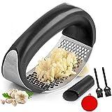 GZLCEU - Juego de 4 piezas de cocina con prensador de ajos (304 unidades, acero inoxidable de grado alimentario, herramienta de cocina con pelador de ajo)