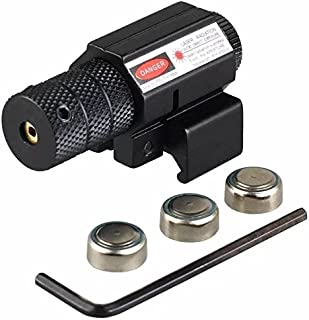 JahyShow Tactical Red Laser Beam Dot Sight Scope for Hunting Gun Rifle Pistol handgun 20mm Mount with Alan Wrenches Easy Bright