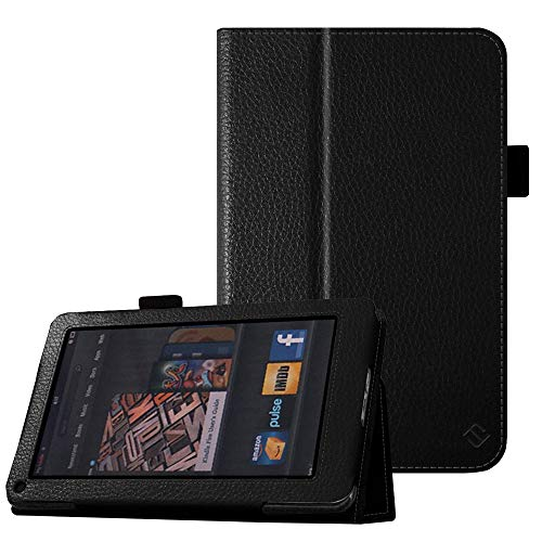 Fintie Folio Case for Kindle Fire 1st Generation - Slim Fit Stand Leather Cover for Amazon Kindle Fire 7' Tablet (Will only fit Original Kindle Fire 1st Gen - 2011 Release, no Rear Camera), Black