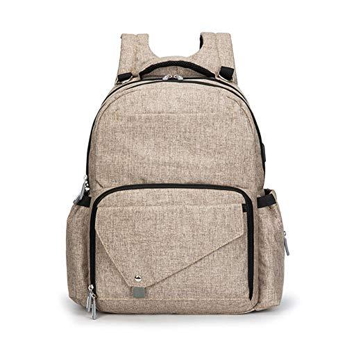 BGKJ Daddy Bag mit großer Kapazität, wasserdichte, abriebfeste und umweltfreundliche Mutter-Kind-Tasche, Business-Baby-Wickeltasche mit USB-Ladeanschluss
