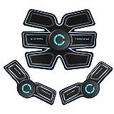 WAMK EMS Entrenador músculo estimulador Entrenador Inteligente Entrenamiento Abdominal ABS estimulador Cuerpo Adelgazante cinturón Unisex Pegatinas
