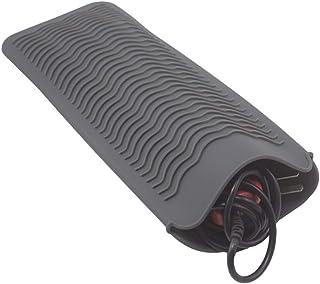 FChome ヘアアイロン用耐熱マット シリコン 断熱パッド、耐熱性 シリコン マット ポーチ ヘアアイロン用 ストレート ヘア アイロン そして トラベル マット、グレー