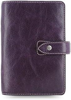 """$129 » Filofax Malden Leather Organizer Agenda Calendar with DiLoro Jot Pad Refills (Personal Paper Size 6.73"""" x 3.74"""", Purple 2020)"""