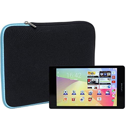 Slabo Tablet Tasche Schutzhülle für MEDION LIFETAB S8311 (MD 98983) Hülle Etui Hülle Phablet aus Neopren – TÜRKIS/SCHWARZ