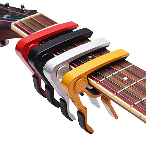 Bkinsety Cejilla Guitarra Electricas Universal, Guitarras Eléctricas Acústicas y Clásicas, Bajo, Banjo,...