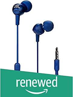 (Renewed) JBL C200SI in-Ear Headphones with Mic (Mystic Blue)