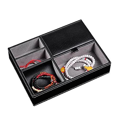 Chytaii Caja de almacenamiento para joyas, caja de almacenamiento de joyas de piel sintética para llaves, teléfono, cartera, monedas, joyas y más