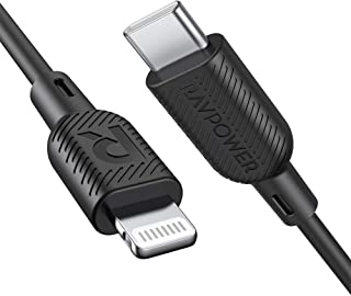 USB C to Lightning Cable RAVPower MFi Certified Supports Power Delivery Fast Charging with Type C PD Charger Compatible with iPhone X/XS/XR/XS Max/8/8 Plus