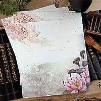 PPSM 8 PCS中国風封筒ビンテージ花の装飾書紙の手紙書類学品学用品文房具 (色 : Lian Hua)