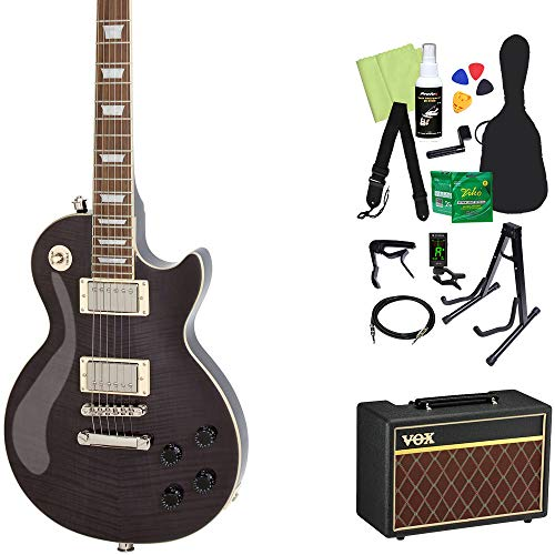 Epiphone Les Paul Tribute Plus Outfit Midnight Ebony エレキギター 初心者14点セット【VOXアンプ付き】 レスポール エピフォン