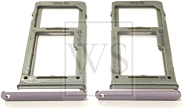 Lot of 2 Piece Replacement Dual SIM Card Tray Holder Slot + Micro SD Card Tray Holder Compatible with Samsung Galaxy Note9 N960 (Lavender Purple)