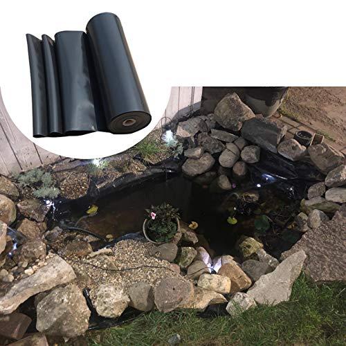 F-XW Premium HDPE Teichfolie Schwarz, Umweltfreundlich, für Fischteichbekleidung, Verstärkte Landschaftsgestaltung, 2 x 5 m, 3 x 8 m, 4 x 7 m, 6 x 10 m